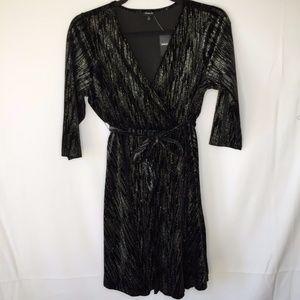 Torrid sz 2 18/20 Black Sparkly Wrap Dress